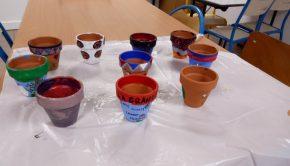 Atelier peinture sur pot